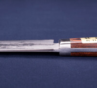 Nakiri / Vegetable Knife - Pounded Damascus VG-1 Steel with Mahogany Handle 14402M