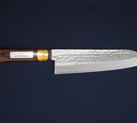 Gyuto / Chef's Knife - Hammer Marked VG-1 Steel with Mahogany Handle 13903L