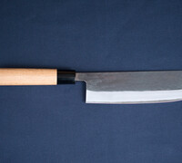 Suzuki-ya Nakiri by Tadafusa Vegitable Knife Kurouchi Finish Blue Steel