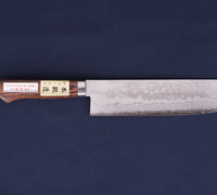 Nakiri / Vegetable Knife - Pounded Damascus VG-1 Steel with Mahogany Handle 14402M